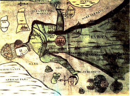 Atlas de Heinrich Bünting (1545-1606) Itinerarum Sacrae Scripturae